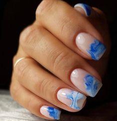 Light Blue Nail Designs, Light Blue Nails, Beauty, Beauty Illustration
