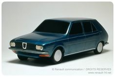 OG | 1976 Renault 14 - Project 121 | 1/5 scale model designed by Jean Thoprieux dated 1971