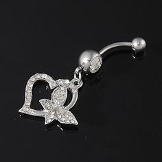 Jewelry & Watches Honey Pretty 925 Sterling Silver Pear Drop Clear Cz 316l Surgical Steel Belly Bar Ring Body Jewelry