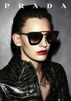 Prada #sunglasses #prada #black