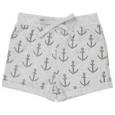 Buy John Lewis Baby Anchor Print Shorts, Grey Online at johnlewis.com