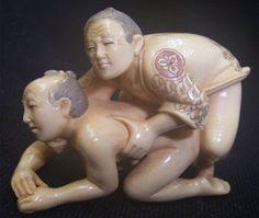 Erotic gay netsuke