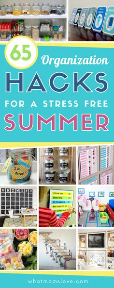 """Organizational hacks, tips and tricks for a stress-free summer with your kids. Smart ideas including routine & chore charts, """"I'm bored"""" activities & more! Organisation Hacks, Diy Organization, Organizing Ideas, Organising, Free Summer, Summer Diy, Summer Ideas, Crafts To Do When Your Bored, Bored Jar"""