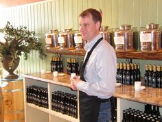 Clint Braidwood from Saratoga Olive Oil. I am repinning this so I will remember to check this place out.