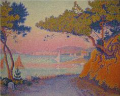 Golfe Juan - Paul Signac >>> I suspect I walked along this road (now bitumen) when we stayed at Juan-les-Pins in 2007.