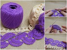 Crochet lace is one of the oldest and most elegant form of crochet and you can use it in any kind of projects, not only for collars and doilies. There are many crochet lace patterns, but this is one of my favorite work. With open stitches and small sizes, you can make easily this beautiful…