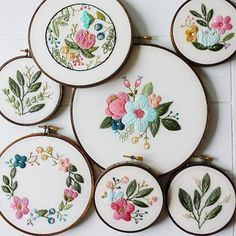 I just love all these embroidery hoops.