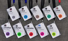 """f8 Conference Badges  """"Now who are you again?"""" Facebook designers stumbled upon a novel approach to the usual name tag problems."""