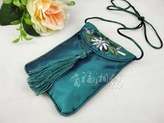 HAND EMBROIDERED SILK PHONE CASE   chinese embroidery tutorial