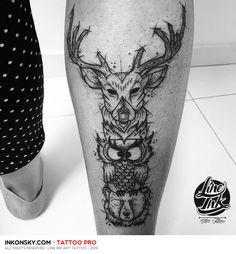 Line Ink art Tattoo