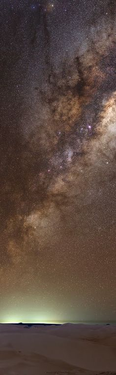 DATE / TIME: 2015-05-22 LOCATION: Dunes near Cervantes, Western Australia SCOPE: Canon 85mm F1.2 prime lens (@f3.5) OPTICAL ATTACHMENTS: None MOUNT: tracking mount head on standard tripod CAMERA: EOS6D unmodded EXPOSURE: 1 x ISO3200 @ 30sec (foreground), and 7 x ISO3200 @ 30sec with tracking (background) PROCESSING: Exposures stitched using Microsoft ICE and processed in Photoshop,Astrophotography - Nightscapes - Collections - Google+