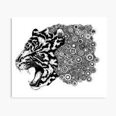 ideas for wood pattern illustration artworks Framing Canvas Art, Canvas Artwork, Canvas Art Prints, Framed Art Prints, Poster Prints, Framed Artwork, Framed Fabric Art, Drawing Frames, Tiger Design