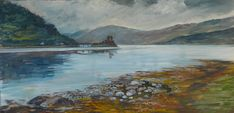 This is the iconic Eilean Donan Castle in the Scottish Highlands, a favourite place for me to paint Eilean Donan, Scottish Highlands, Art Decor, Original Art, Castle, Fine Art, Canvas, Places, Artwork