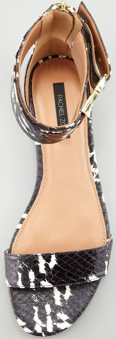 Rachel Zoe - We ♥ her Gladys Watersnake Flat Sandal - goes with everything and adds a hint of luxe to any outfit...x