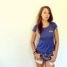 Cal Berkeley French Tee // vintage 70s blue tshirt by FenixVintage
