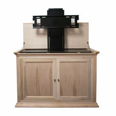hartford unfinished tv lift cabinet for flat screen tvs