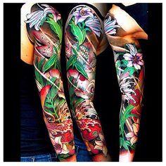 Beautiful sleeve by @jessyentattoo