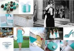 Not even close to thinking about weddings, but I am totally digging this Tiffany's Blue color theme. Especially the bridesmaid's dresses. <3