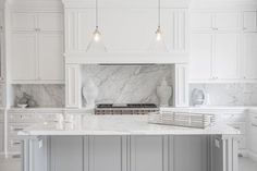 Beautiful, contemporary white and grey kitchen