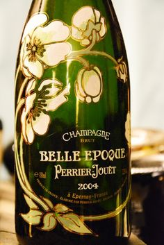 Belle Epoque - Perrier Jouet - champagne - flower design bottle - Got this on for my 21st, drank it on my wedding day!