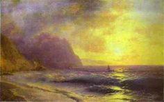 Ivan Aivazovsky   Sunset at Sea, 1848, oil on canvas, Taganrog Art Gallery, Taganrog, Russia.