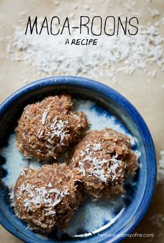 Maca-Roons Recipe - Real Food by the Herbal Academy of New England