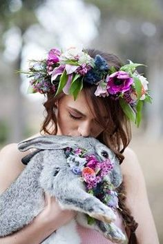 Ostara is the pagan festival of the Spring - or Vernal - Equinox. Beltane, Samhain, Foto Fantasy, Corona Floral, Vernal Equinox, Sabbats, Spring Time, Her Hair, Inspiration