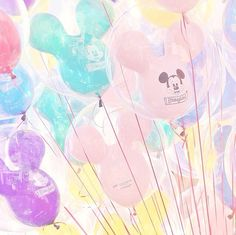 Disney balloons make me so cheerful.