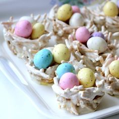 The cutest little, edible nests are adorable for Easter. Wouldn't they look sweet at each place setting around the dinner table. These n...