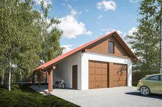 projekt G298 - Budynek garażowy z wiatą PRA1319