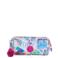 This cute zip pouch is primed to keep small essentials like pens, pencils, and markers organized inside your backpack or tote bag. Wolfe's exterior flap unfolds to reveal four pen loops that allow for easy access to your favorite pens and pencils. Plus, this stylish accessory pouch doubles as a cosmetic roll up bag, that can easily fit blush, foundation, and concealer inside the roomy interior, while makeup brushes and eyeliners fit perfectly in the outside flap. #genius.  This accessory ...