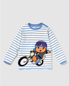 Camiseta de bebé niño Personajes de Pocoyo de rayas