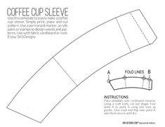 new McCafé single brew coffee with printable cup sleeve