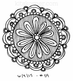 #59 - Sketchbook : 100 Mandalas Challenge Week 9 - KitsKorner.Com