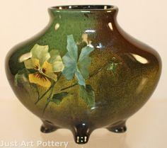 Owens Pottery Lightweight Pillow Vase (Virginia Adams)  (from Just Art Pottery)