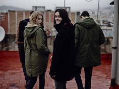 CAMPUS Lookbook Autumn/Winter 2014 #winter #fashion #parka #women #black #olive