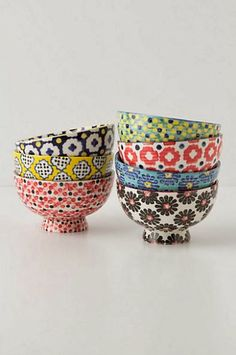 Tiled & dotted bowls - Anthropologie