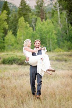 Wedding photos taken in Aspen Grove.