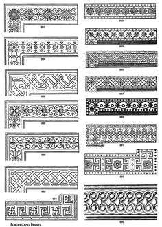 decorative borders suitable for embroidery --- or Zentangles