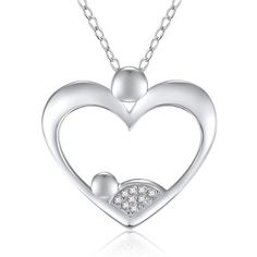 """This necklace is gently crafted in 925 Sterling Silver and is Rhodium platedto ensure a long lasting shine. It comes complete with a matching 18"""" Sterling Silver chain all set for you! Also available in yellow gold and rose gold."""