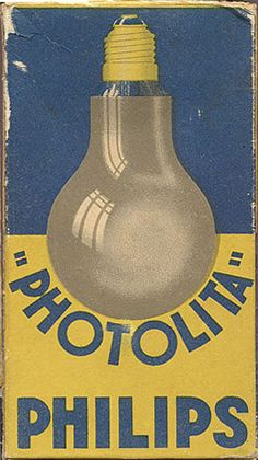 """Photolita"" Philips light bulb box view two, circa 1935"