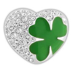 Swarovski Clover Heart Charm Clip ($48) ❤ liked on Polyvore