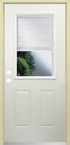 Rt 8 full lite prehung steel door with blinds between the - Menards exterior doors with glass ...