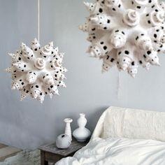 Handmade paper pulp lamp