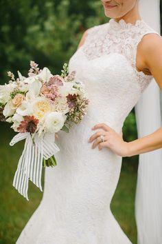 gorgeous neutral bouquet   Emily Delamater Photography   Glamour & Grace