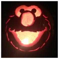 Elmo Pumpkin Carving Sesame Street Halloween Cute