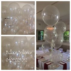 """""""Bubbles"""" #bubblebouquets #greatgatsbytheme #opc #podfood #heliumballoonscanberra #clearballoons #act #cbr #canberraballoons #BalloonBrilliance"""