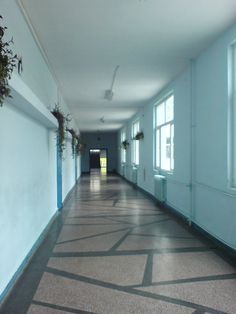 school corridor by LenaMorgue90