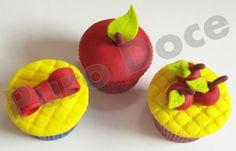 Cupcake Branca de Neve Baking Cupcakes, Cupcake Cakes, Snow White Cupcakes, Love Cake, Princess Party, Disney, Maya, Fairy Tales, Picnic