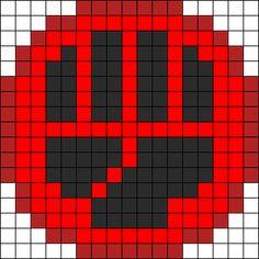 Pokémon Fighting Energy Perler Bead Pattern / Bead Sprite